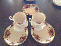 vintage teacups assorted