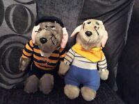 Vintage Roland Rat and Little Reggie soft toys