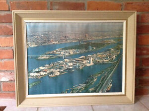 Framed aerial photograph of Montreal Expo 67