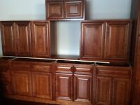 Brand New All Wood Kitchen Cabinets Set for sale