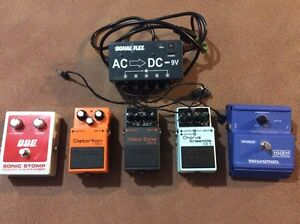 Effect pedals. Stomp boxes.