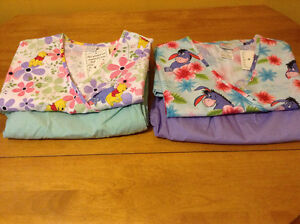 2 Brand New Scrub Sets with tags REDUCED- Winnie the Pooh Eeyore