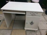 Annie Sloan computer table original white