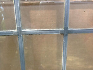"ANTIQUE- HIGH QUALITY - 2 LEADED GLASS WINDOWS-EACH 50""H x 21""W Oakville / Halton Region Toronto (GTA) image 4"