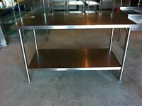 Stainless Table for Restaurant or Garage