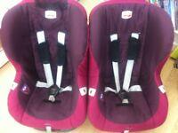 Two x britax car seats