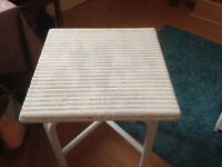 White painted Lloyd loom table