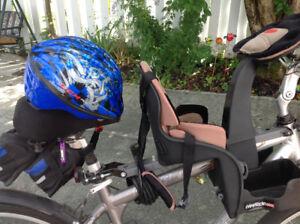 Siège et casque de vélo pour enfant