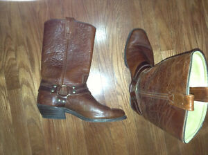 Mens leather boots for sale size 8