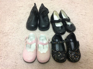 Baby girl shoes size 3, 4 & 5.5