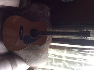 1980's Yamaha Acoustic Electric Guitar with Hardcover Case