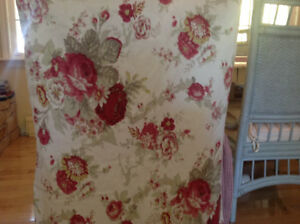 WAVERLY FABRIC PAIR OF CHAIR Slipcovers /sewing