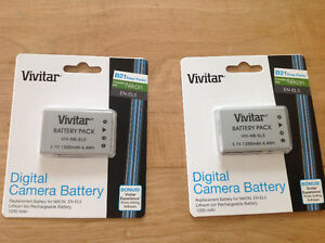 2 NEW DIGITAL CAMERA BATTERIES