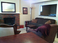 Beautiful furnished 1000sq ft private, sunny and cozy