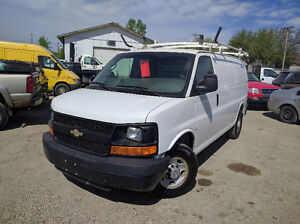 2009 Chevrolet Express Cargo Van w/ roof rack and rear shelving