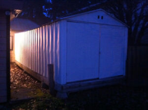 Large garden shed (35' x 9.5')