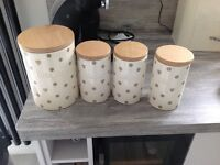 NEXT tea, coffee, sugar and biscuit storage jars for sale
