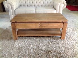 Brand new reclaimed Elm Coffee table with Storage