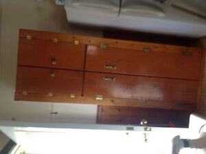 Solid wood cabinet with doors