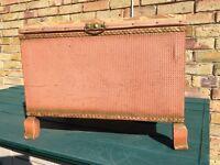 Lloyd loom style mini ottoman