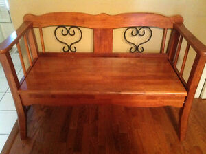 Solid Wood Deacon Bench