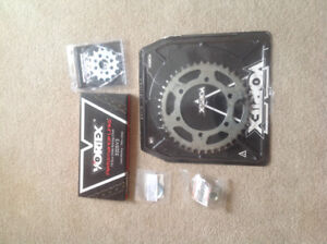 Complete chain and sprocket kit for ninja 300