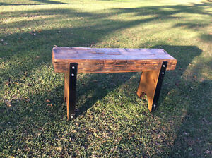 RUSTIC BARN-BEAM BENCH / TV STAND / DISPLAY TABLE London Ontario image 3