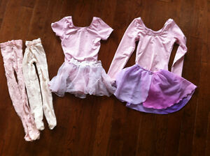 Size 6X/7 Pink Body Suits with Sheer Skirts