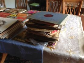 Job lot of vinyl records various artist some dating back to 1950's