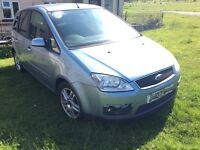 NON RUNNER. Ford Focus C-Max Zetec 1600 TDCi In blue. 07 reg