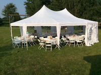 Backyard Outdoor Tents, Tables, Chairs, Dance Floor for Rent