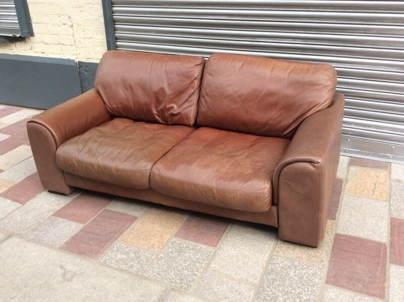 Rustic Leather Sofa 5ft Wide In Glasgow City Centre Gumtree