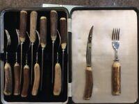 Edwin Blyde vintage steak cutlery set