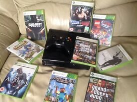 Xbox 360 with wireless controller and games