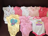 Baby Girl Onesies - 0-3 months