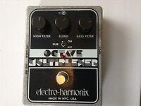 EHX Octave Multiplexer guitar/bass effects pedal