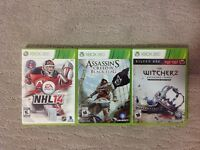 XBOX 360 - NHL14, ASSASSIN' S CREED IV, WITCHER 2...