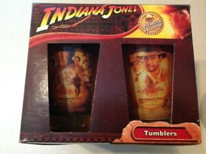 Indiana Jones Glass Tumblers - Mint in BOX See pictures..