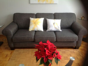 Sofa, Love seat & Chair with 5 matching pillows