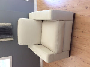 FOR SALE -- White, Leather Armchair