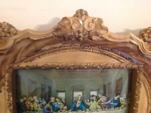 Rare old Jesus Last Supper Plaster Framed, Lamp Windsor Region Ontario image 5