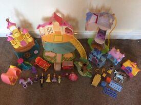 Huge job lot Disney princess castles, sofia rapunzel
