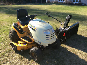 "Cub Cadet 1045 46"" cut lawnmower with 42"" two-stage snowblower"