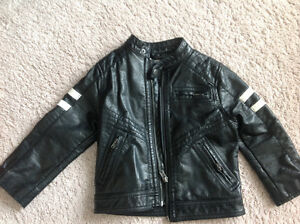 Faux leather H&M jacket size CA 2-3T