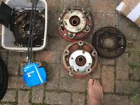 Pre 66 VW Beetle rear brakes, spacers, adapters and front link pins