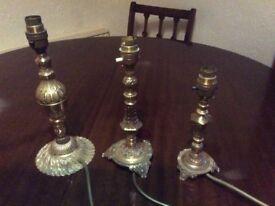 Retro vintage brass lamps / lights