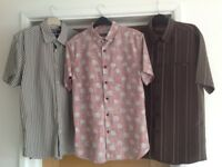Set Of Three men's short sleeve shirts