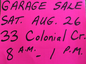 Garage Sale - 33 Colonial Crescent, Brantford