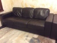 3 seater and 2 seater leather sofa from BHS