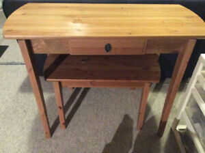 IKEA solid wood nesting tables